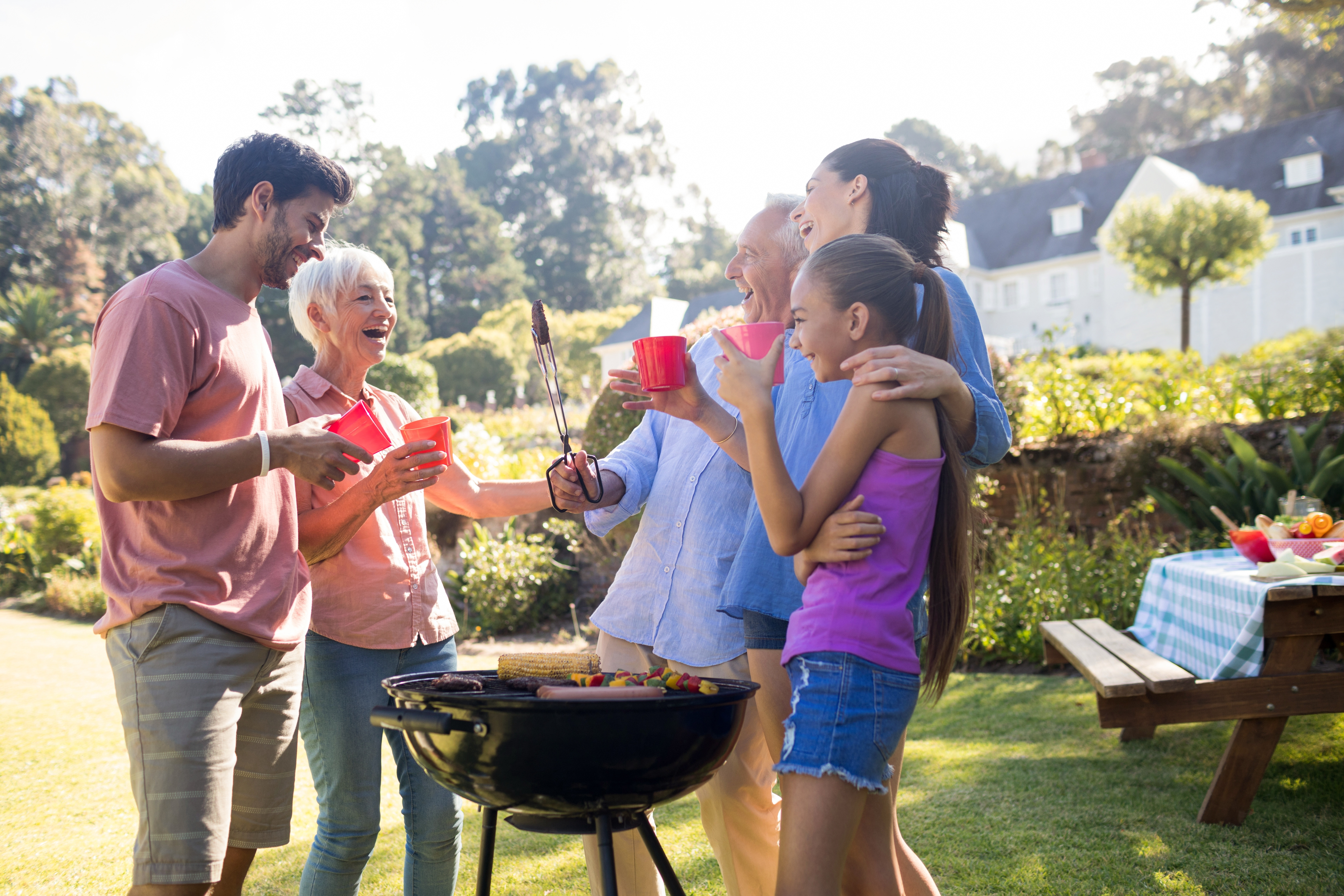 family having a cookout