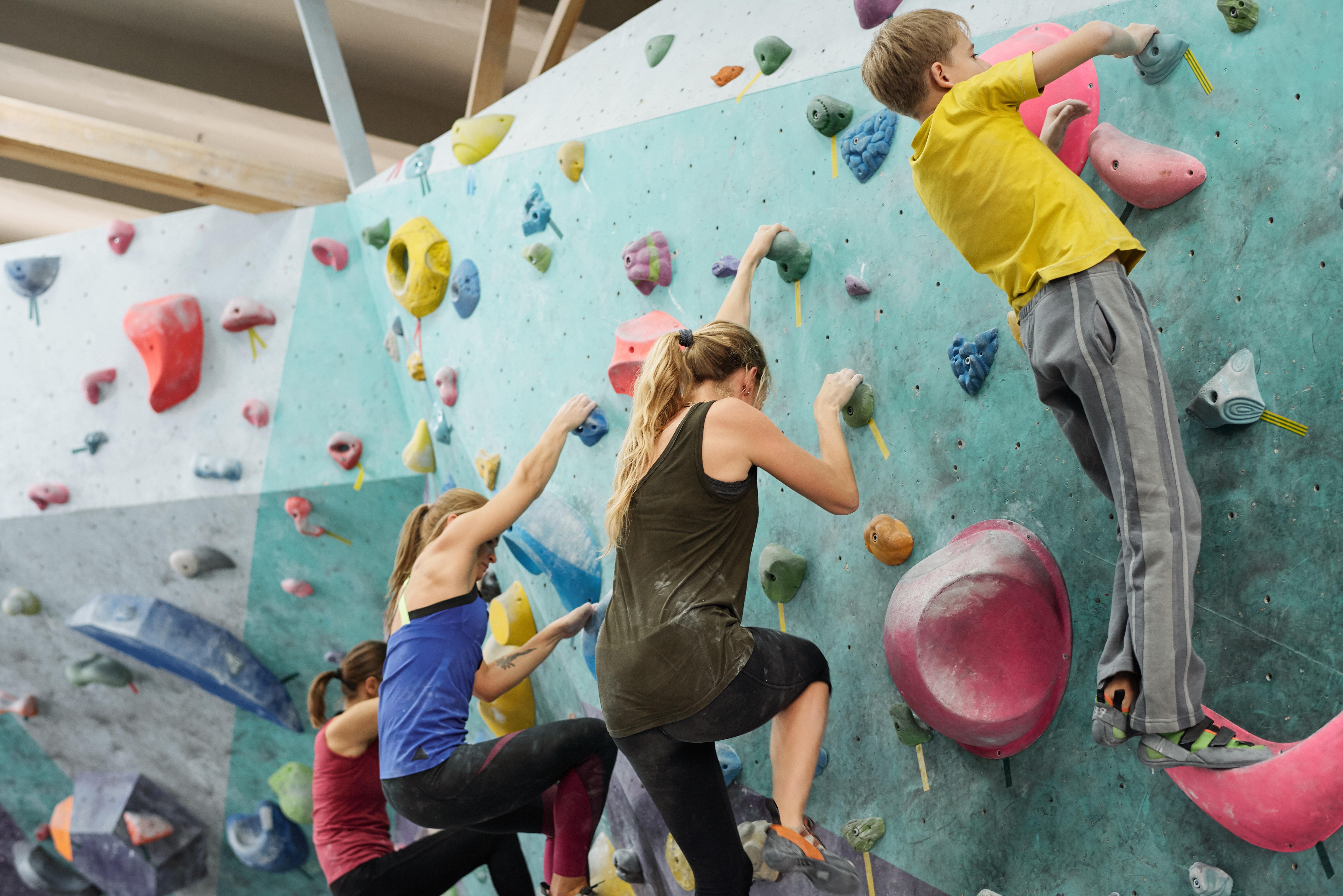 youth rock climbers