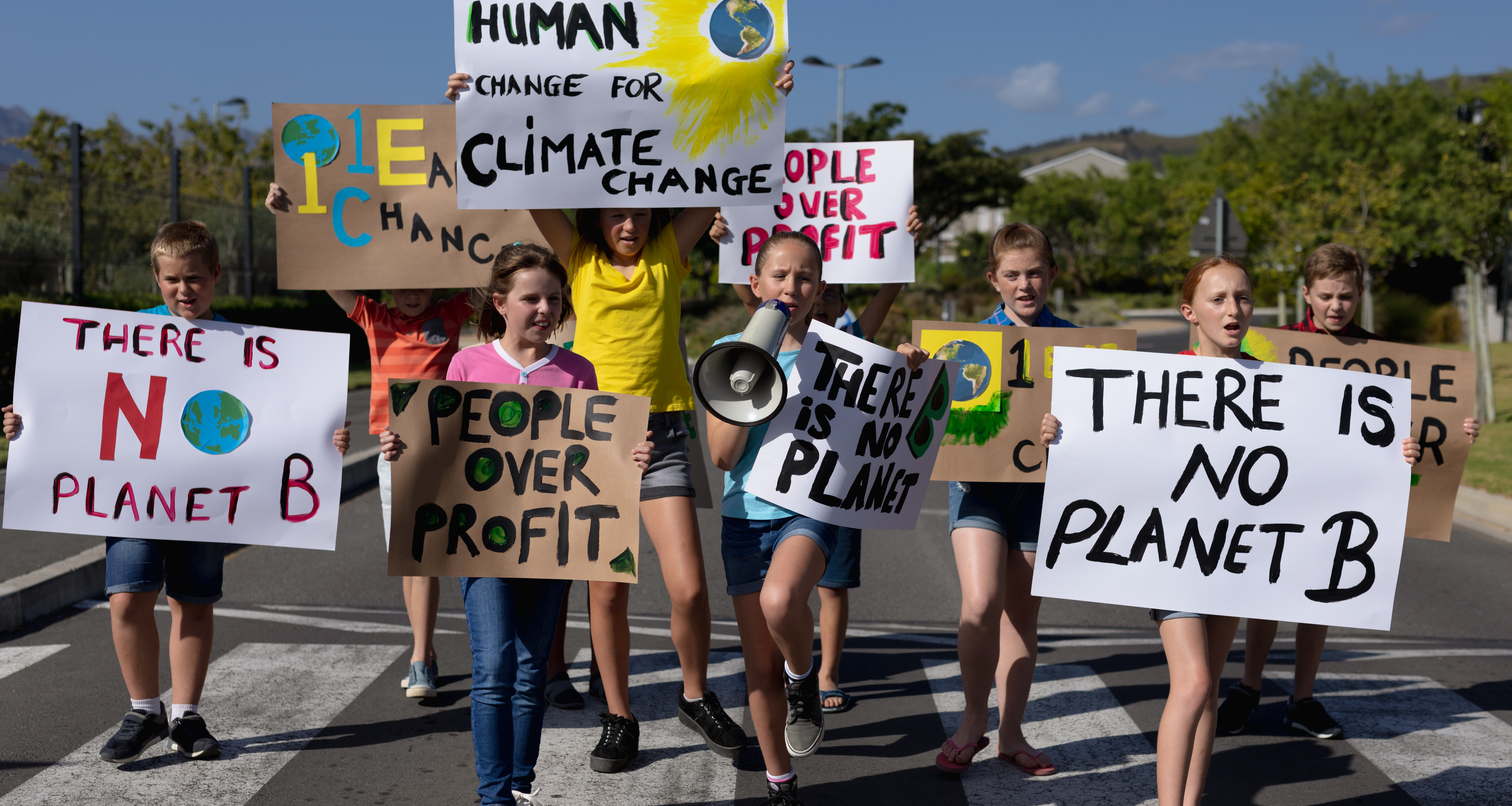 kids march for climate action