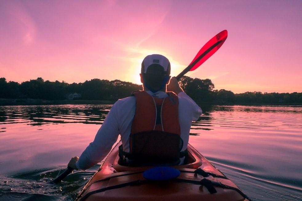 Person kayaking