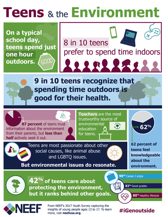 Teens & The Environment graphic